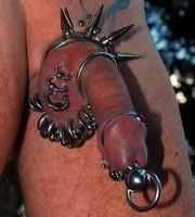 Masturbation on pierced genitals